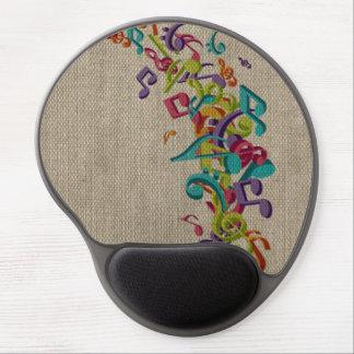 La belle musique de texture de toile de jute note  tapis de souris gel