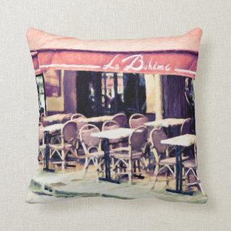 La Boheme Paris Caféthrow-Kissen-Wohngestaltung Kissen