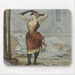 La boule masquée - dame des loisirs et du plaisir tapis de souris