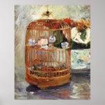 La cage par Berthe Morisot Poster