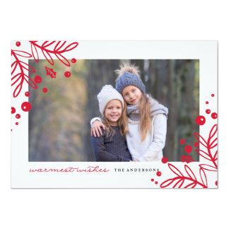 La carte de Noël LA PLUS CHAUDE de photo de Carton D'invitation 12,7 Cm X 17,78 Cm