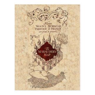 La carte du maraudeur du charme   de Harry Potter