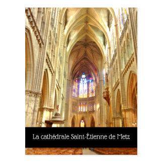 La cathédrale Heiliges-Étienne De Metz Postkarte