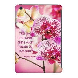 La citation florale de Kahlil Gibran fleurit Coque iPad Mini