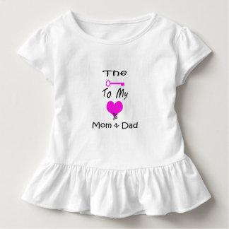La clé à ma pièce en t de ruche d'enfant en bas t-shirt pour les tous petits