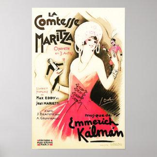 La Comtesse Maritza Vintages Plakat