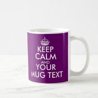 La couleur de prune gardent le modèle calme des mug