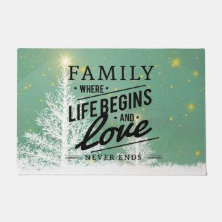 La famille de tapis où la vie commence et l'amour