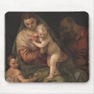 La famille sainte avec l'enfant John par Paolo Ver Tapis De Souris