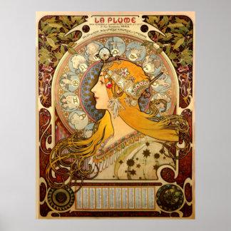 La-Feder-Vintages Franzosen Nouveau Frankreich Poster
