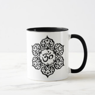 La fleur de Lotus en acier OM conçoivent - le noir