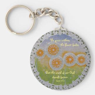 La fleur se fane porte - clé porte-clé rond
