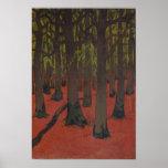La forêt avec la terre rouge, c.1891 poster
