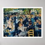 La Galette de Le Moulin de par Renoir Posters