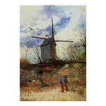 La Galette de Le Moulin de par Vincent van Gogh Posters