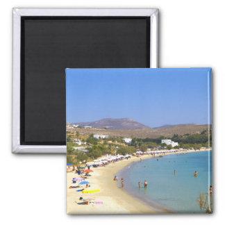 La Grèce, île de Paros, plage de Krios d'en haut Magnet Carré