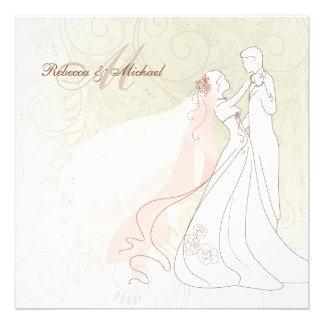 La jeune mariée et le marié élégants dansent d abo