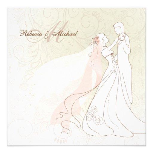 La jeune mariée et le marié élégants dansent d'abo