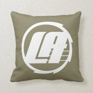LA Kreis-Logo (weiß) Kissen