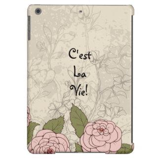 La La de C'est luttent ! Roses floraux de citation Coque iPad Air