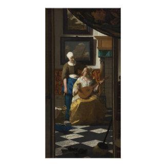 La lettre d amour par Johannes Vermeer Photocartes