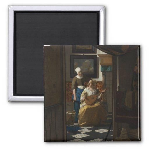 La lettre d'amour par Johannes Vermeer Aimants