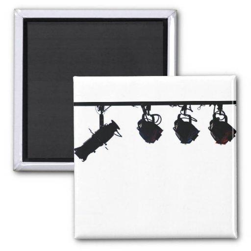 La lumière noire d'étape silhouette l'appareil pho aimant pour réfrigérateur