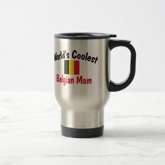 La maman belge la plus fraîche mug de voyage en acier inoxydable