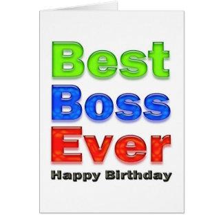 La meilleure carte d'anniversaire de patron jamais