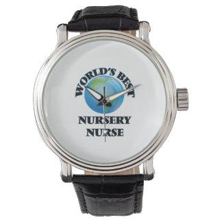 La meilleure infirmière de la crèche du monde montres bracelet