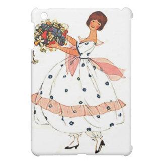 La mode, belle robe de dentelle fleurit le cas d'i