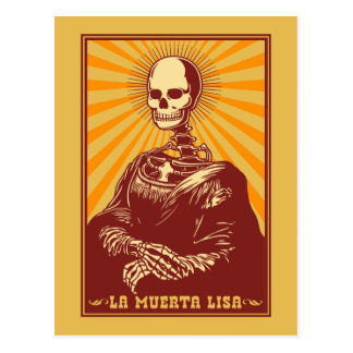 La Muerta Lisa Postkarte