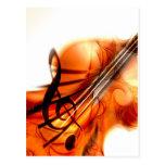 La musique a ficelé la danse de destin de violon d cartes postales