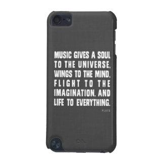 La musique donne une âme dans la caisse d'iPod d'u Coque iPod Touch 5G