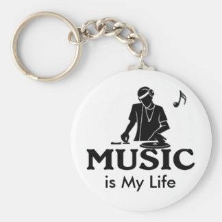 La musique est ma vie porte-clé rond