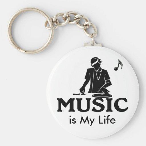 La musique est ma vie porte-clef