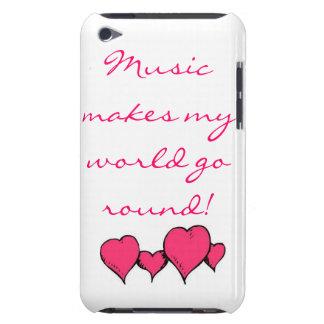 La musique fait mon monde tourner coques iPod Case-Mate