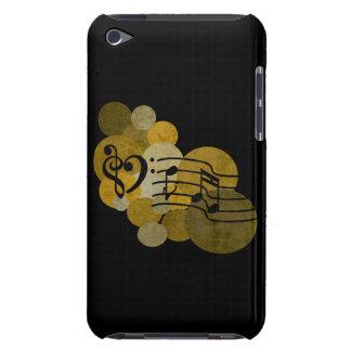 La musique note le coeur de clef + caisse d'iPod d Coques Barely There iPod