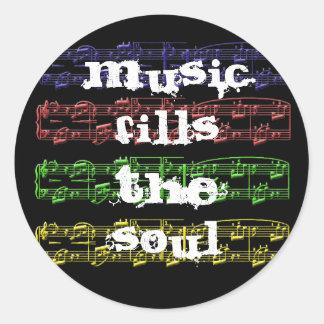 La musique remplit autocollant d'âme