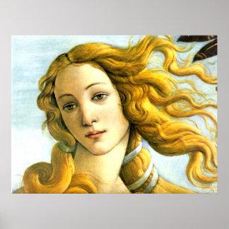 La naissance de Vénus - copie de toile de détail Posters