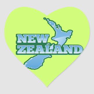 La NOUVELLE ZÉLANDE avec une carte Sticker Cœur