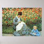 La peinture célèbre de Monet : Camille Monet et en Poster