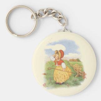 La petite BO vintage piaulent comptine d'oie de Porte-clé Rond