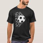 La pièce en t des hommes de but de ballon de t-shirts