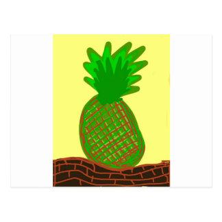 La pina lola Ananas Postkarte