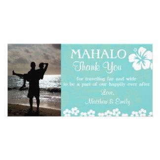 La plage d'Aqua fleurit le carte photo de Merci Photocartes Personnalisées