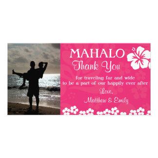 La plage rose fleurit le carte photo de Merci Photocartes