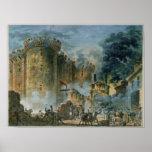 La prise de la bastille, le 14 juillet 1789 poster