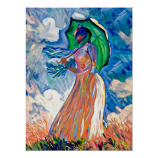 La-Promenade, alias La Femme à l umbrelle Poster