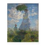 La promenade, femme avec un parasol (1875) cartes postales